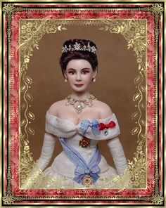 Miniature Doll Princess Anne by Gina Bellous