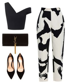 Untitled #81 by ainsleylouise on Polyvore featuring polyvore, fashion, style, Maticevski, Chicnova Fashion, Gianvito Rossi and Yves Saint Laurent