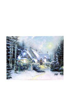 Christmas at home Pannello Decorativo Luminoso LED Christmas Landscape su Amazon BuyVIP