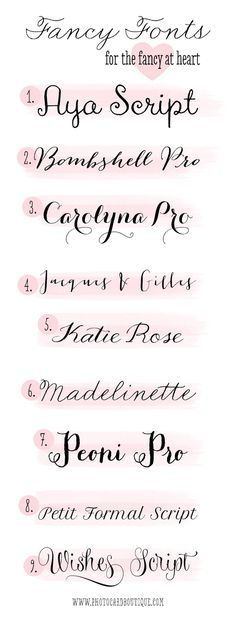 Fancy Fonts for the Fancy at Heart! || to use for parties, invitations, weddings, printables, and more. #fonts