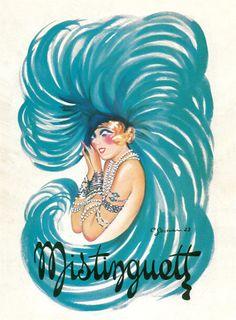 Vintage Misinguett Charles Gesmar Giclee Art Print