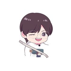 Cute Anime Chibi, Bts Chibi, Kawaii Anime, Kpop Drawings, Cute Drawings, Taehyung Fanart, Kawaii Doodles, Fanarts Anime, Handsome Anime