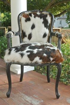 Old West Furniture - Western Style Rustic Furniture Cowhide Furniture, Cowhide Chair, Reupholster Furniture, Western Furniture, Painted Furniture, Cowhide Decor, Rustic Furniture, Papasan Chair, Chair Cushions