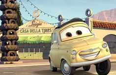 Luigi di Cars-Motori Ruggenti nel racconto di Galdieri Auto.