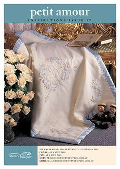 gorgeous embroidered baby blanket