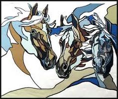 stained glass horses - Google Search