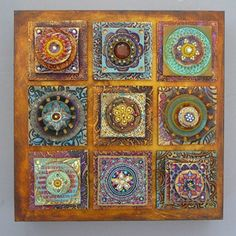 Laurie Mika - polymer clay quilt squares!