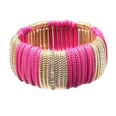 Striped Stretch Bracelet Pink, $29, now featured on Fab.