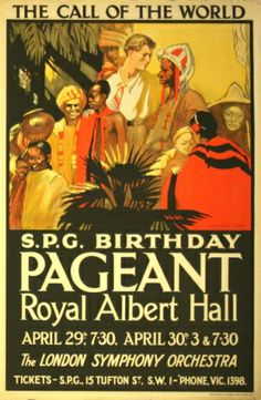 SPG Birthday Pageant, 1927 - original vintage poster by H Vincent Clark listed on AntikBar.co.uk