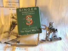 I would love one of these. and a double on too! Singer Simanco One Thread Embroidery Attachment 1930s Wonder