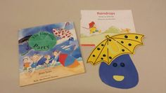 Umbrella and raindrop craft