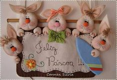ПАСХАЛЬНОЕ ГИРЛЯНДЫ. ВЫКРОЙКИ Farm Crafts, Cute Crafts, Easter Crafts, Diy And Crafts, Easter Pillows, Handmade Stuffed Animals, Fabric Wreath, Felt Decorations, Easter Holidays