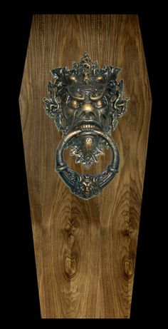 Count Dracula Sculpture; Vampire Coffin