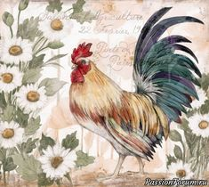 Decoupage, Plastic Canvas Patterns, Country Decor, Photo Wall, Super Cute, Roosters, Illustration, Art, Paper