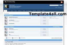 Free SMF Themes - Blue Template Design #smf #design #themes