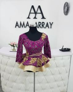 Statement Ankara Peplum Top Designs Perfect For Stylish Fashionistas - Wedding D. from Diyanu - Ankara Dresses, Shirts & African Maxi Dresses, African Fashion Ankara, Latest African Fashion Dresses, African Print Fashion, African Attire, African Wear, African Lace Styles, Trendy Ankara Styles, Ankara Peplum Tops