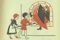 "Illustration by Kaj Beckman and for the book ""Första sagoboken"""