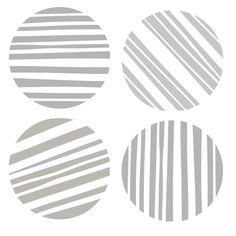 "6"" x 6"" Art Stencil - Circle of Stripes"
