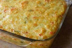 Corn Pie This recipe shows corn being used in two ways – canned and dried. If you like, you can replace the canned corn with fresh corn. This Corn Pie recipe I got from a good friend of mine in Trinidad, I've Kos, Braai Recipes, Cooking Recipes, Vegetarian Recipes, Appetizer Recipes, Dishes Recipes, Vegetarian Dinners, Side Recipes, Healthy Dinners