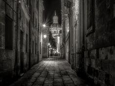 Salamanca night - una calle de Salamanca ( Spain )