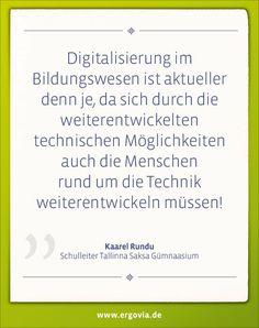 Digitalisierung im Bildungswesen ist aktueller denn je, da sich durch die weiterentwickelten technischen Möglichkeiten auch die Menschen rund um die Technik weiterentwickeln müssen. Bildungsvideos unter: https://www.youtube.com/playlist?list=PLUDl3h1tKR5MkeZL3AvKGyTvkEs7o919m #Estland #Schule #Digitalisierung #Unterricht #digital #Schulsoftware #Lehrer #teacher #school #ergovia #software