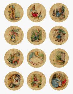 Me encantan estas imágenes de la familia rabbit y me parecen muy propias para estos días.  Las podéis utilizar como adorno de cupcakes pero ...