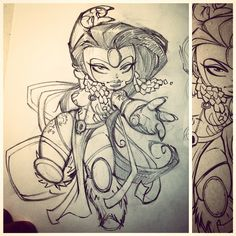 Chibi Voodoo sketch. Remember WildC.A.T.s back in the day? Coloured version going up in an hour.