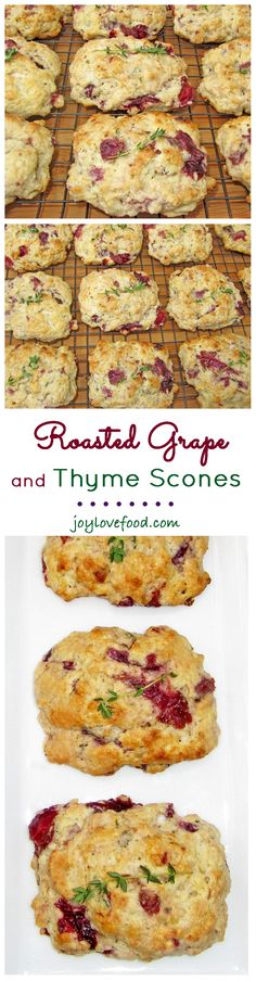 Roasted Grape and Thyme Scones