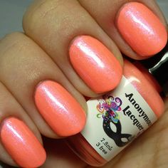 $7.50 BN swatched nail clip ring Anonymous Lacquer Orange You My BFF