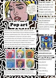 Pop Art Poster designed for students as a quick reference and introduction. Since we're doing pop art in our mock Art History Timeline, Art History Memes, Art History Lessons, History Major, Pop Art History, History Projects, Documents D'art, Programme D'art, Pop Art For Kids