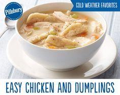 You can never go wrong with Chicken and Dumplings! It's the perfect comfort food to warm up with on those cold winter nights. This soup made with chicken, vegetable and biscuits will have your family coming back for seconds.