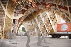 Le pavillon français pour l'Exposition universelle deMilan, en2015, qui mettra àl'honneur laculture duvin. ©CMC/X-TU/STUDIO A.RISPAL