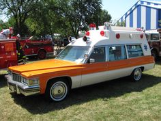 1977 Cadillac Miller-Meteor ambulance at the Frankenmuth 2011 Fire Muster.