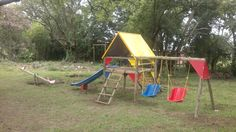 The most commonly chosen combination, all round fun but spread out a little bit. Wendy House, Jungle Gym, Fun, Hilarious