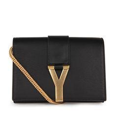 Saint Laurent Macho Mini Black Leather Shoulder Bag