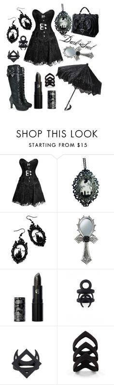 """Dark Soul"" by acruzportillo ❤ liked on Polyvore featuring Curiology and Lipstick Queen"