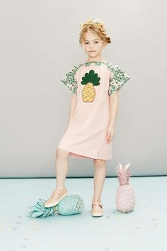 Stunning dress by Gucci, shoes by Young Soles for spring/summer kidswear 2016 at Childrensalon