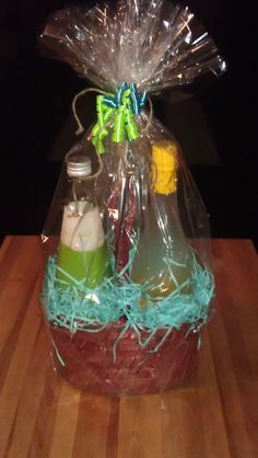 Coconut Water & Herbal Lemon Water, great for a non-alcoholic gift
