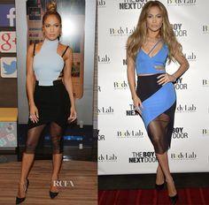 Jennifer Lopez In David Koma – Despierta America & 'The Boy Next Door' Miami Screening