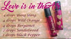 Play cupid and mix up a little love potion for you and your valentine's. These essential oils are all known for their aphrodisiac qualities! Ooh, la, la!  These will get you in the mood!  Just put 4 drops each of Ylang Ylang, Wild Orange, & Bergamot, 2 drops each of Sandalwood and Black Pepper in an empty roller.  Then top it off with the carrier oil of your choice such as coconut, jojoba, almond, or grapeseed. #doterra #essentialoil #love #cupid #diffuserblend