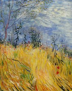Van Gogh, Edge of a Wheat Field with Poppies, 1887