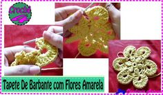 Como Fazer Tapete em Croche Barbante com Flores