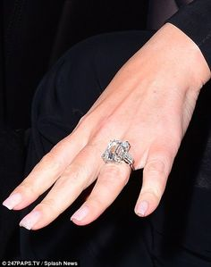 The 47-year-old casino billionaire got down on one knee on Thursday evening in New York, after less than a year of dating the US musician and she was flashing the ring very shortly after.