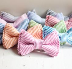 Seersucker bow ties-- instantly makes any guy 10x more attractive