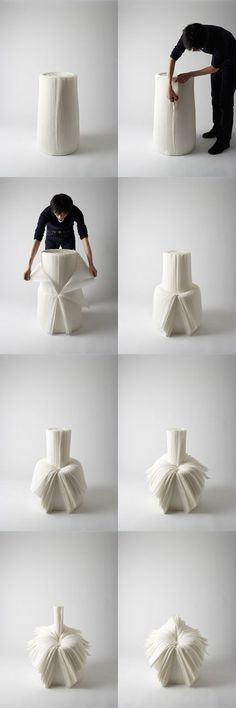 Cabbage chair by Nendo, Japan: Chairs Paper, Japan, Art Design, Design Art… Theme Design, Art Design, Funky Furniture, Home Furniture, Furniture Design, Japan Design, Room Interior, Interior Design Living Room, Design Creation