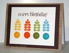 images stampinup cards | Stampin Up Funky Four Rainbow Card | Creative Cucina