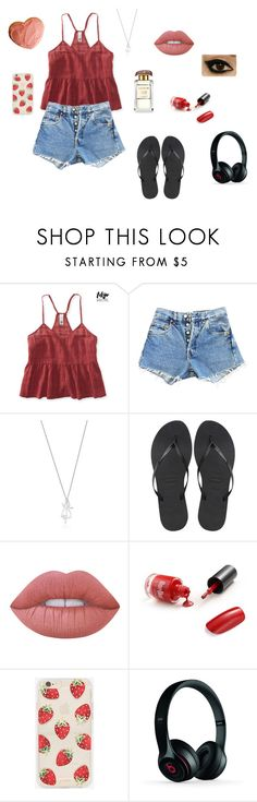 """""""Star Crossed Myth: Ichthys x3"""" by gravityfallsgirl33 ❤ liked on Polyvore featuring Aéropostale, Levi's, Havaianas, Lime Crime, Sonix and Beats by Dr. Dre"""