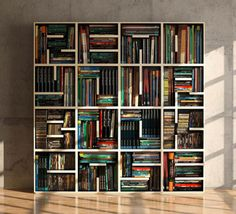The ABC Bookcase by Saporiti is a collection of modular storage cubes, each shaped like a letter of the alphabet. Other decorative cubes are available too..