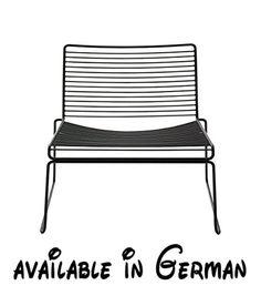 B00A2SHC4M : HAY Hee Lounge Chair - black Hee Welling Stahl pulverbeschichtet.