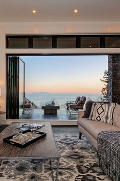 Home with stunning panoramic ocean views from all three levels in Canada // homeadverts
